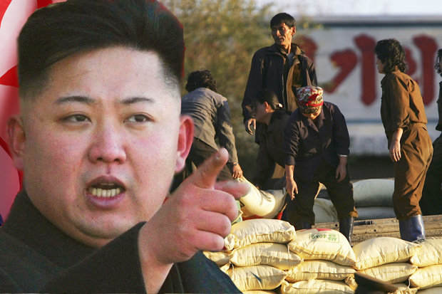 kim Jong-un and North Korean workers