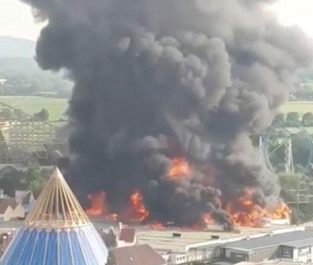 Massive Fire Rips Through Theme Park Leaving Trail Of Destruction