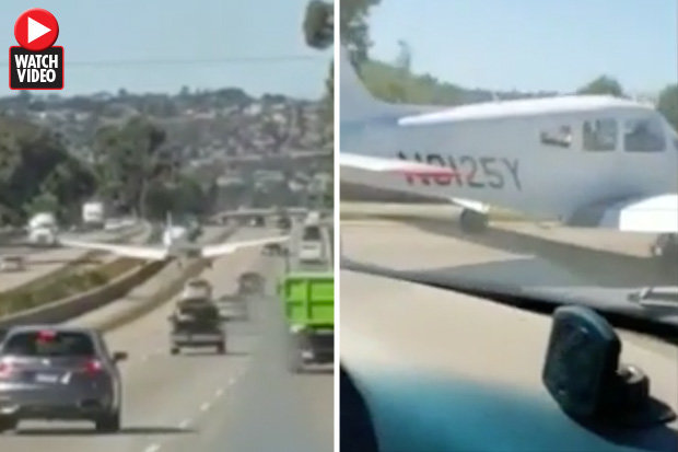 Plane lands on motorway