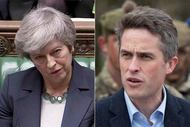 Theresa May and Gavin Williamson