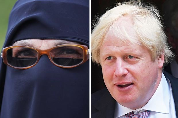 Boris Johnson burka row