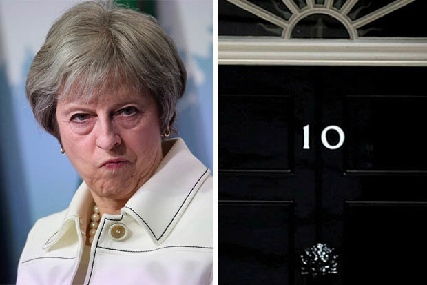 Theresa May and No 10 Downing St