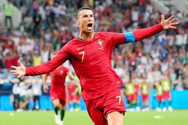 Image result for pic of ronaldo in portugal color