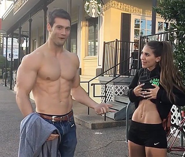 Lad Tries To Impress With Abs But Is Quickly Upstaged