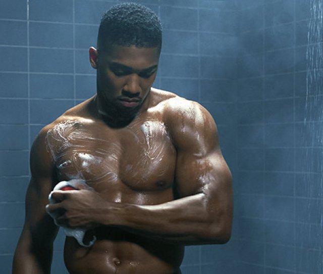 Fit Anthony Joshua Strips Naked