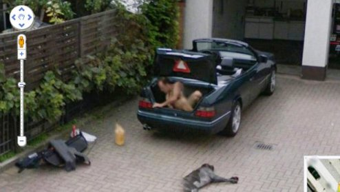 Google Maps is TEN  Here s 10 fascinating facts and pictures from a     We re not sure what this guy is naked and in the boot of his car  GOOGLE