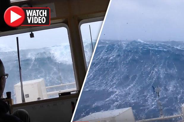 Huge storm batters North Sea