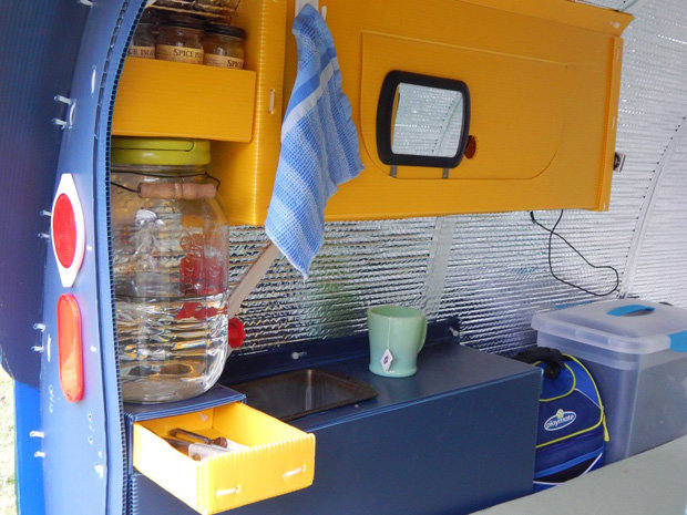 Man Lives Inside Tiny Bicycle Camper You Wont Believe
