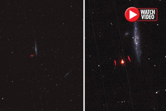 Astronomer captures bizarre UFO on camera