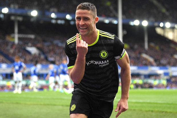 Image result for Gary Cahill 3-0 everton