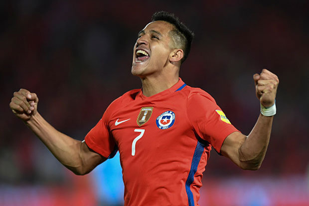 Arsenal star Alexis Sanchez scored a brace in Chile's 3-1 win over Uruaguay