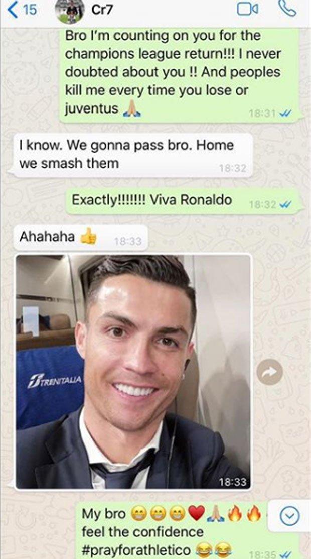 Ronaldo and Evra