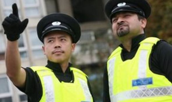 The Theos might look like a new form of policemen but are council employees with little training