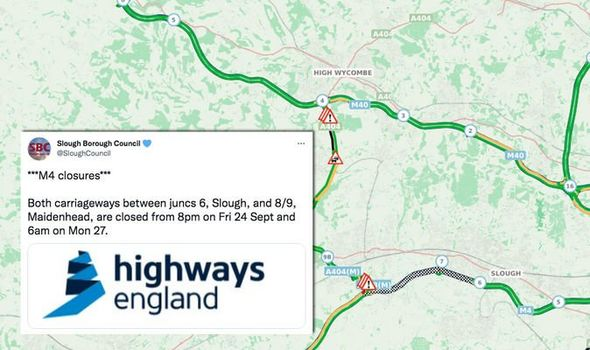 M4 closed in both directions as traffic queuing for miles - M6 hit with weekend closure