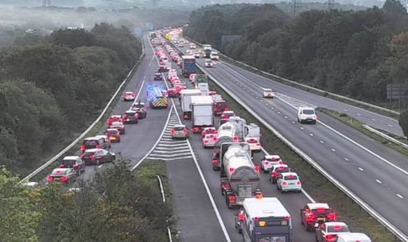 M4 traffic CHAOS: Huge queues with police en route after crash on motorway - UPDATES