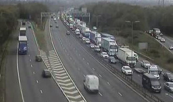 M6 traffic: Major delays as lorry fire closes motorway in both directions