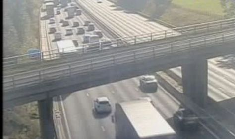 M6 traffic hell as lanes closed in both directions– air ambulance lands at 'serious' crash