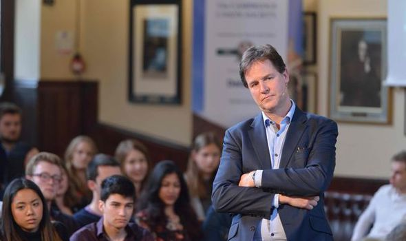 Nick Clegg has been doing the rounds of universities in his quest for continued notoriety