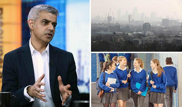 London mayor Sadiq Khan and heavy air pollution