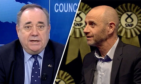 Alex Salmond and Evan Davis