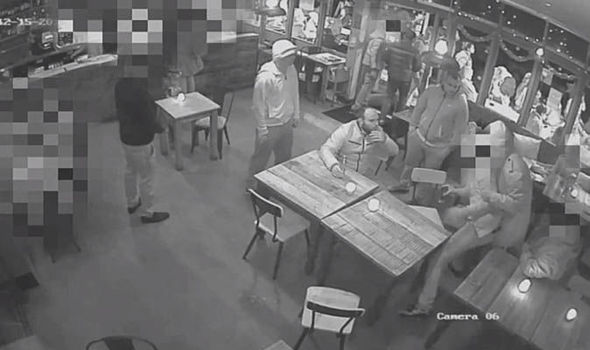 CCTV footage of man kidnapped from a bar