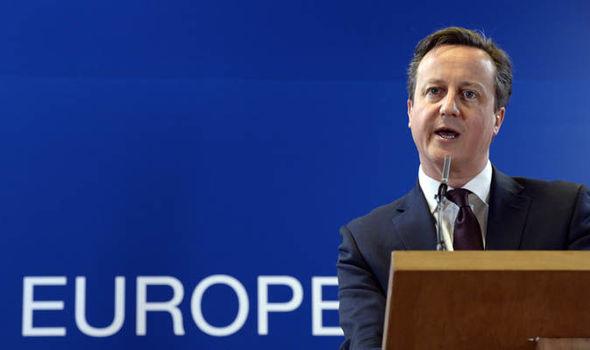 David Cameron at the European summit