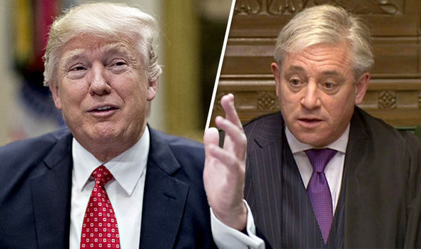John Bercow and Donald Trump