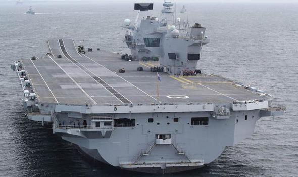 HMS Queen Elizabeth on sea trials