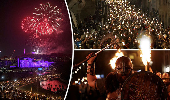 Hogmanay pictured  New Year celebration kicks off in Scotland as     Hogmanay in Edinburgh