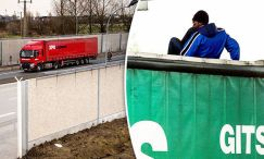 Lorry drivers receive record number of fines migrants