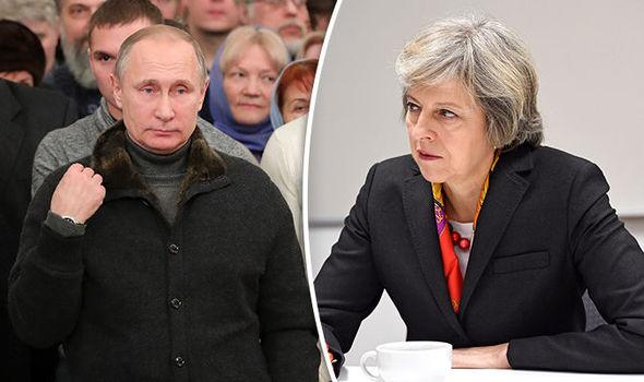 May vs Putin look stern