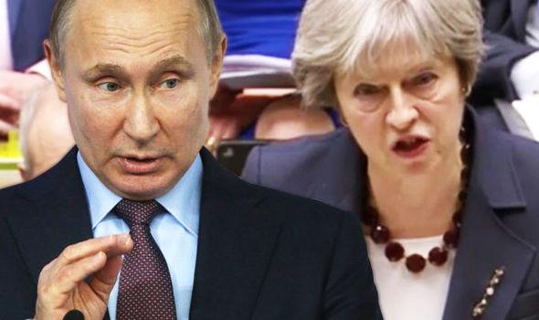 Vladimir Putin news Theresa May Russia