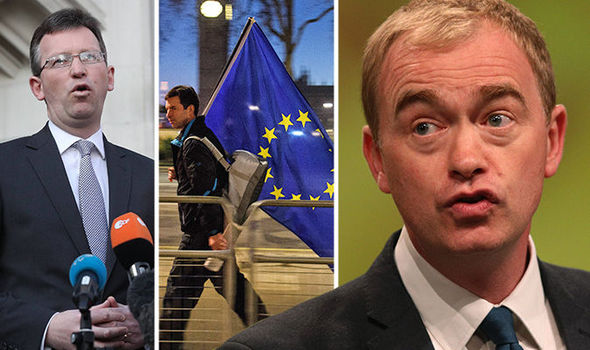 Liberal Democrats leader Tim Farron has called for another EU referendum