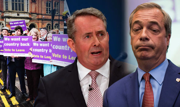 Nigel Farage and Liam Fox after the High Court Article 50 deicision