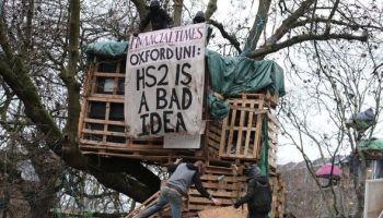 hs2 protest tunnel london euston latest