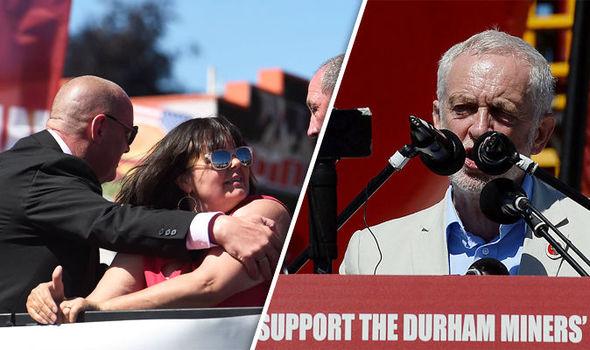 Jeremy Corbyn at the Durham miners gala