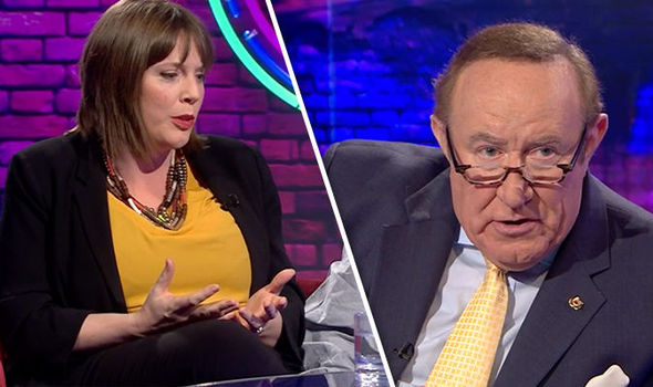 Jess Phillips and Andrew Neil