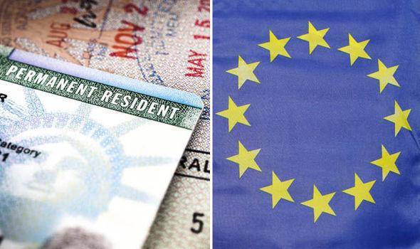 Passport and an EU flag