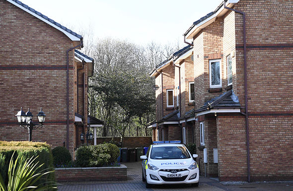 A house in the gated housing estate in West Didsbury, NW England