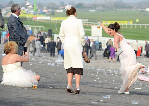 A group of women at Aintree