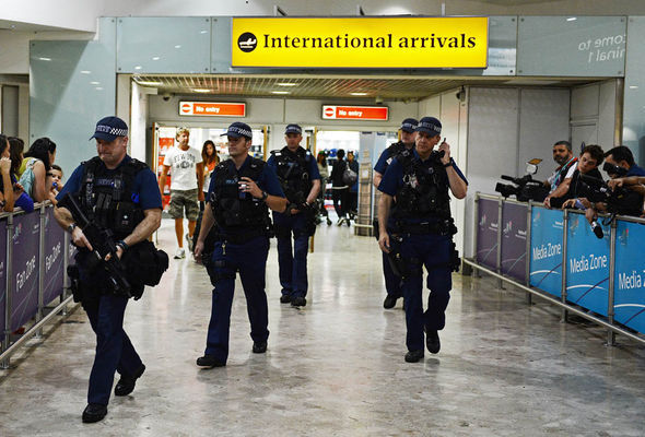 Police at Heathrow
