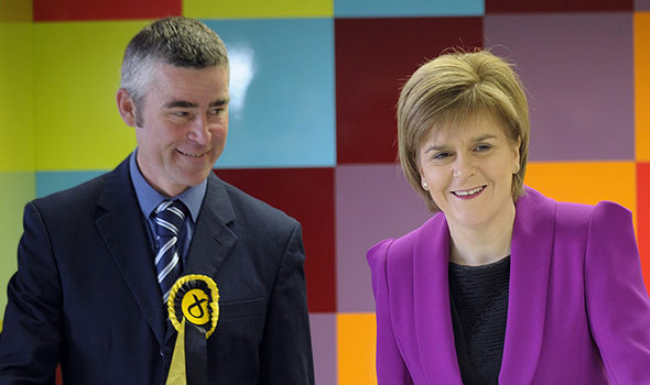 Alan Brown and Nicola Sturgeon