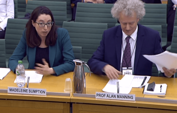 Prof Alan Manning and Madeleine Sumption