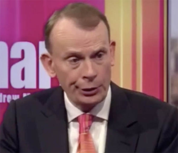 Andrew Marr on his show on BBC