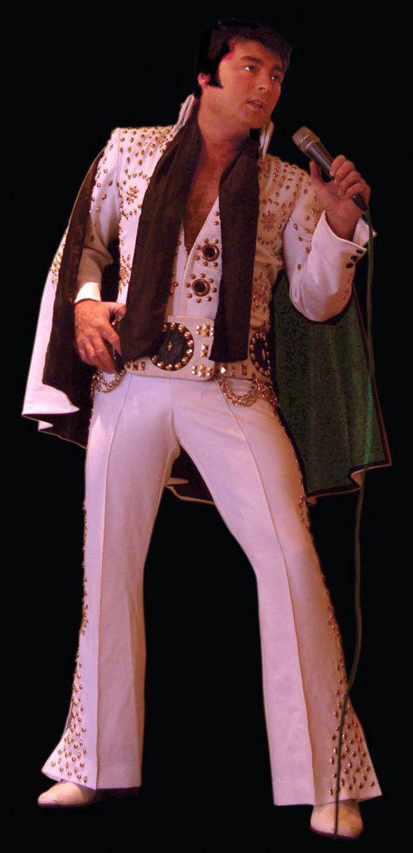Anthony Bradley dressed as Elvis