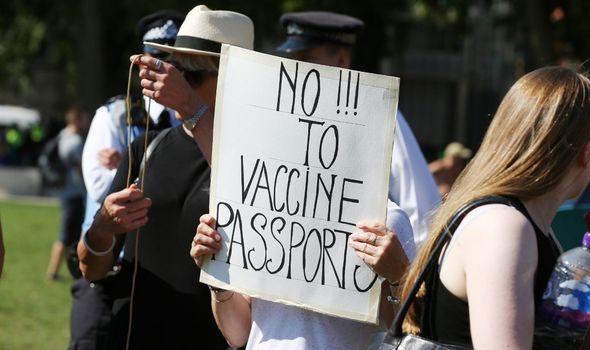 Anti-vaccine protester
