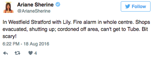Comedian Ariane Sherine on Twitter
