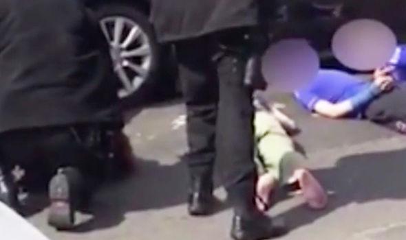 Armed Police arrest Birmingham firearms children