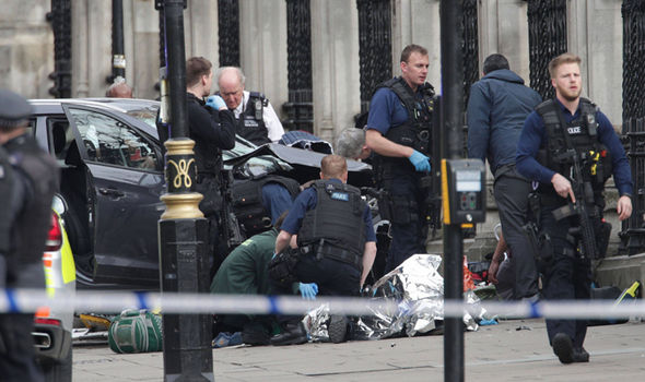 Victim on the ground in Westminster