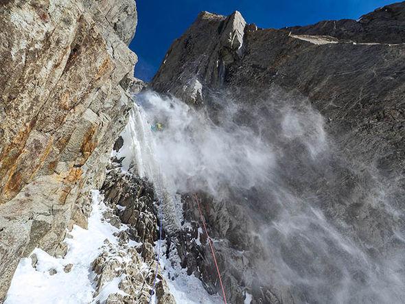 Will Sim climbing